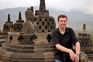 Me at Borobudur, Indonesia
