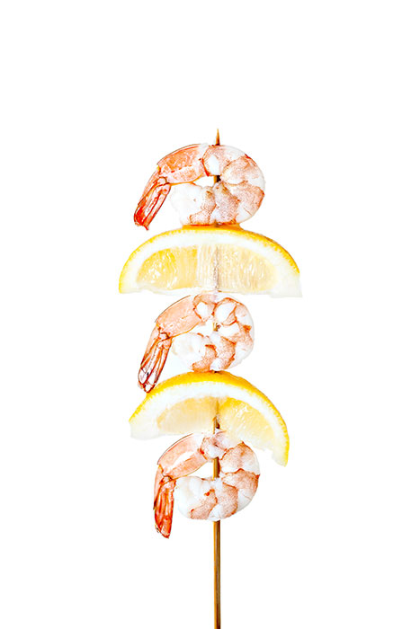 Shrimp and Lemon Skewer
