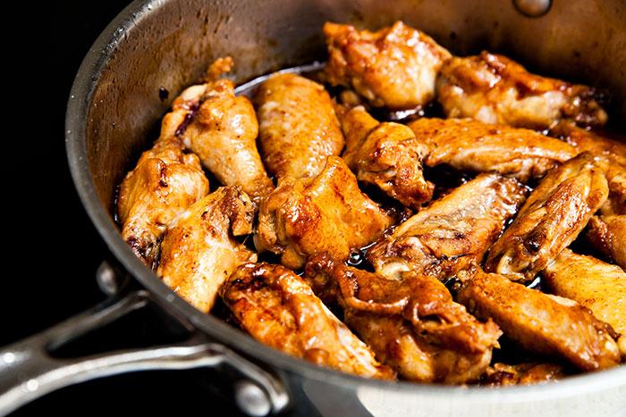 Chicken Wings & Mushroom Soy Sauce