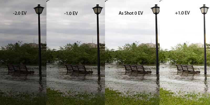 Pseudo HDR Example with EV Values