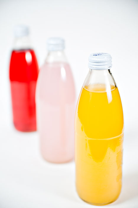 Colorful Juice Bottles