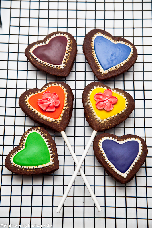 cookies, hearts, decorated