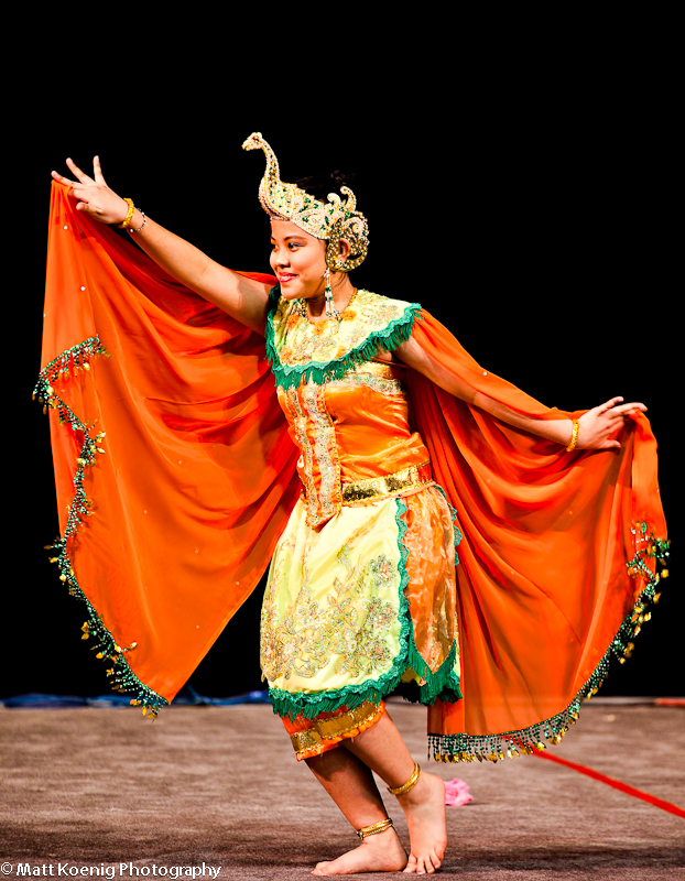 Balinese dancer at Oregon Asian Festival