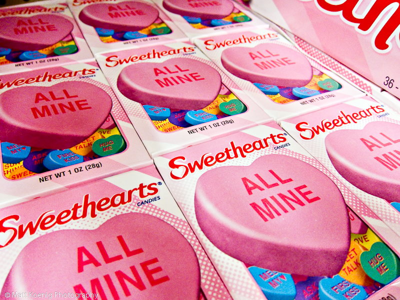 sweethearts candy for Valentine's Day