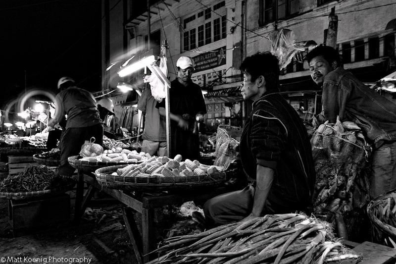 Night Market in Bandung Indonesia