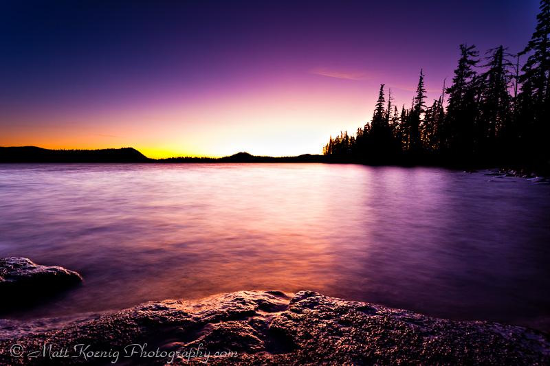 Sunset on Waldo Lake